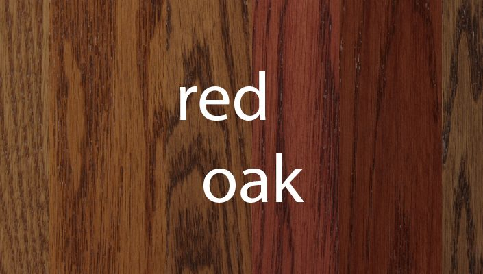 Red Oak Stain Samples